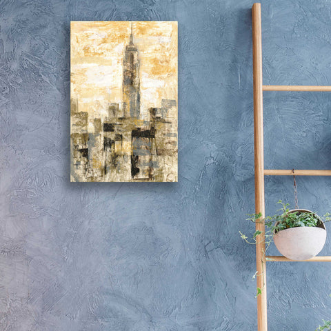 Image of Epic Art 'Manhattan Gray and Gold II' by Silvia Vassileva, Acrylic Glass Wall Art,16x24