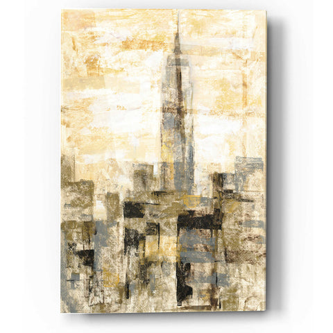 Image of Epic Art 'Manhattan Gray and Gold II' by Silvia Vassileva, Acrylic Glass Wall Art
