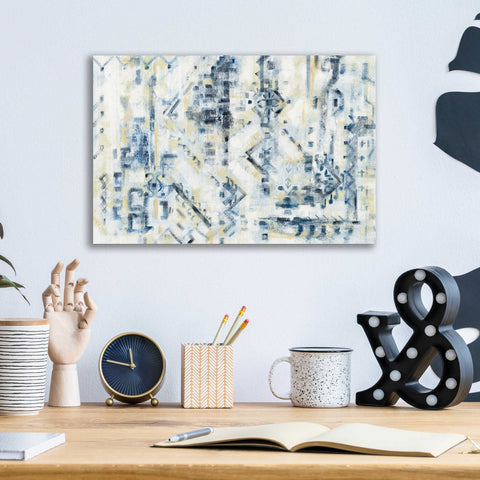 Image of Epic Art 'Scattered Indigo' by Silvia Vassileva, Acrylic Glass Wall Art,16x12