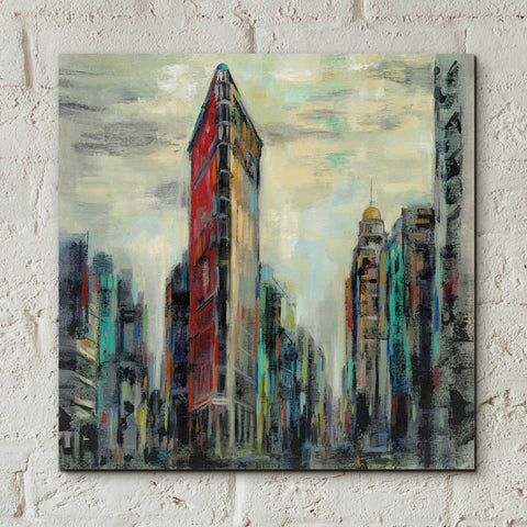 Epic Art 'Manhattan Flatiron Building' by Silvia Vassileva, Acrylic Glass Wall Art,12x12