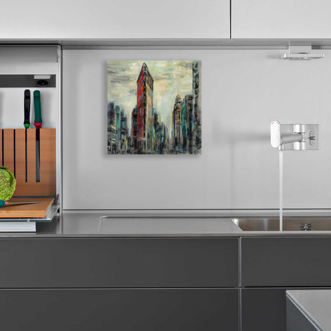 Image of Epic Art 'Manhattan Flatiron Building' by Silvia Vassileva, Acrylic Glass Wall Art,12x12