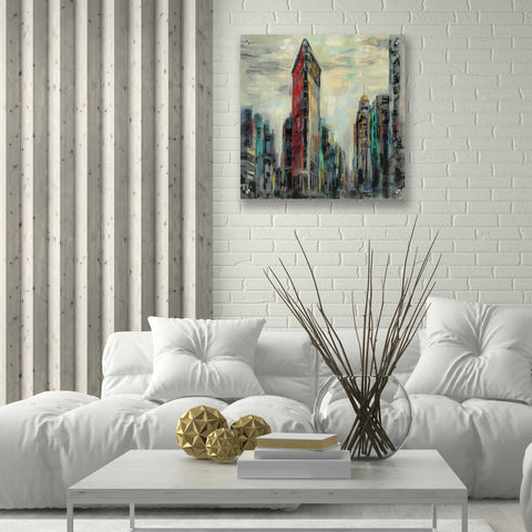 Epic Art 'Manhattan Flatiron Building' by Silvia Vassileva, Acrylic Glass Wall Art,24x24
