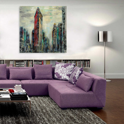 Epic Art 'Manhattan Flatiron Building' by Silvia Vassileva, Acrylic Glass Wall Art,36x36
