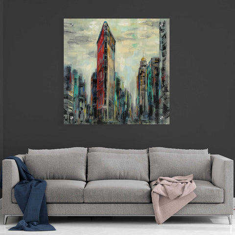 Image of Epic Art 'Manhattan Flatiron Building' by Silvia Vassileva, Acrylic Glass Wall Art,36x36