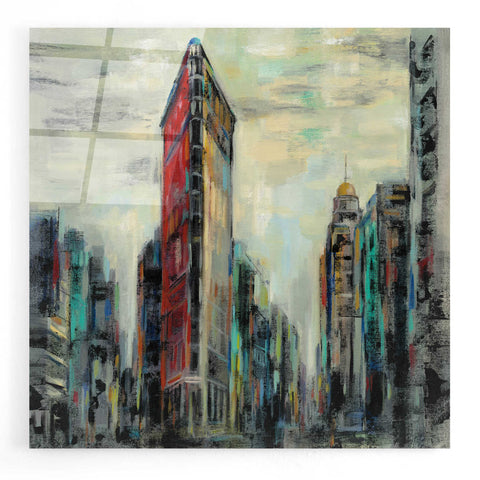 Image of Epic Art 'Manhattan Flatiron Building' by Silvia Vassileva, Acrylic Glass Wall Art