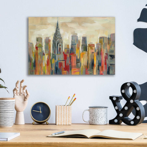 Epic Art 'Manhattan' by Silvia Vassileva, Acrylic Glass Wall Art,16x12