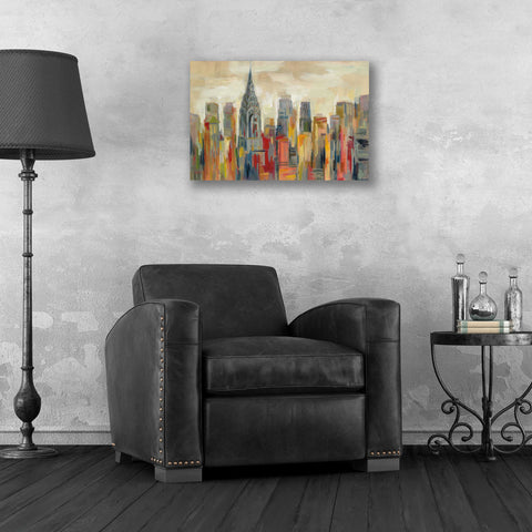 Epic Art 'Manhattan' by Silvia Vassileva, Acrylic Glass Wall Art,24x16