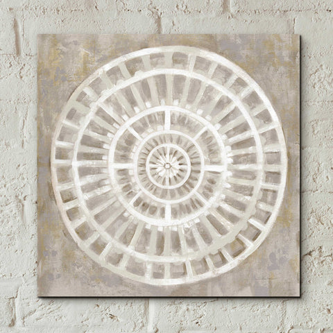Image of Epic Art 'Neutral Textured Medallion Light' by Silvia Vassileva, Acrylic Glass Wall Art,12x12