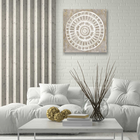 Image of Epic Art 'Neutral Textured Medallion Light' by Silvia Vassileva, Acrylic Glass Wall Art,24x24