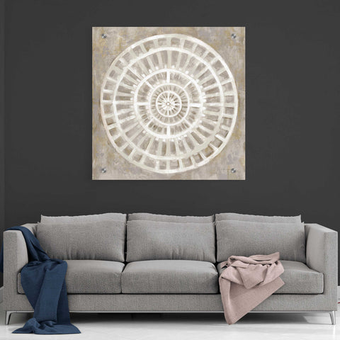 Image of Epic Art 'Neutral Textured Medallion Light' by Silvia Vassileva, Acrylic Glass Wall Art,36x36
