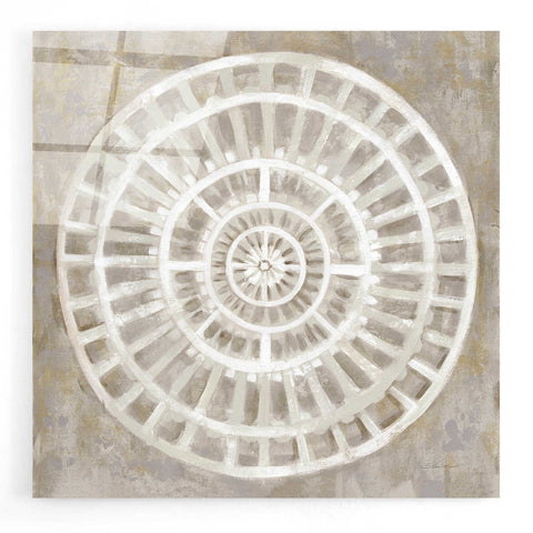Image of Epic Art 'Neutral Textured Medallion Light' by Silvia Vassileva, Acrylic Glass Wall Art