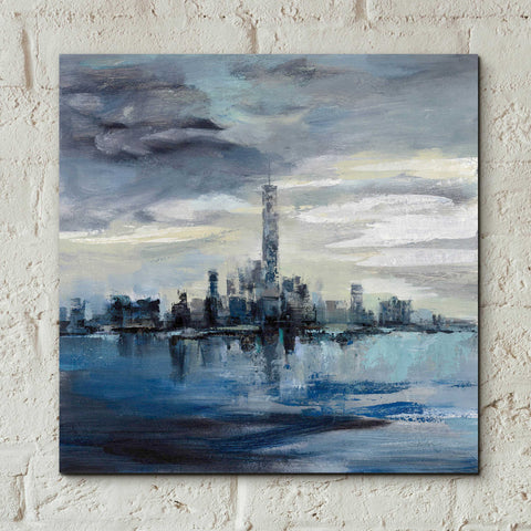 Epic Art 'Manhattan Winter' by Silvia Vassileva, Acrylic Glass Wall Art,12x12