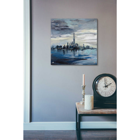 Image of Epic Art 'Manhattan Winter' by Silvia Vassileva, Acrylic Glass Wall Art,24x24