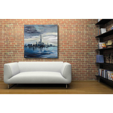 Image of Epic Art 'Manhattan Winter' by Silvia Vassileva, Acrylic Glass Wall Art,36x36