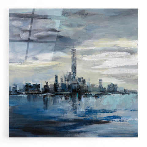 Image of Epic Art 'Manhattan Winter' by Silvia Vassileva, Acrylic Glass Wall Art