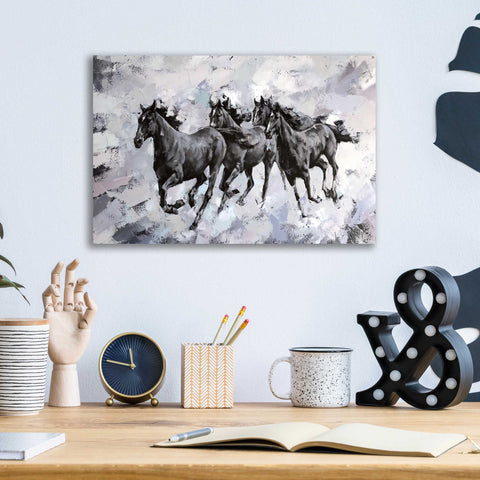 Epic Art 'Gallop' by Alexander Gunin, Acrylic Glass Wall Art,16x12