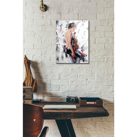 Epic Art 'Violinist' by Alexander Gunin, Acrylic Glass Wall Art,12x16