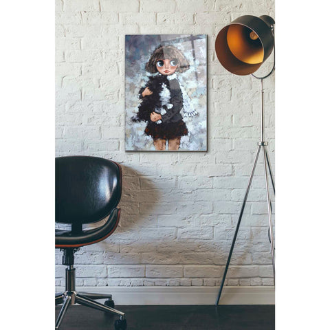 Image of Epic Art 'Girl With Cat' by Alexander Gunin, Acrylic Glass Wall Art,16x24