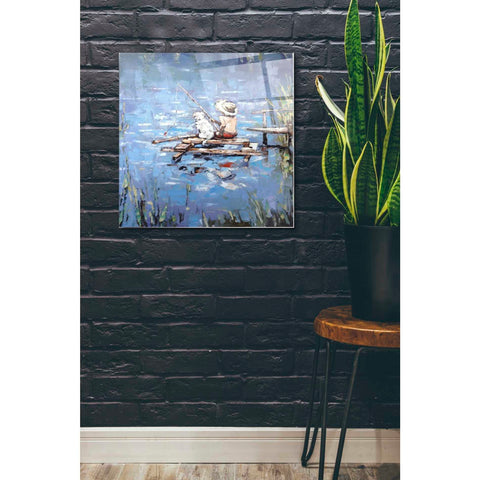 Image of Epic Art 'Fishermen' by Alexander Gunin, Acrylic Glass Wall Art,24x24