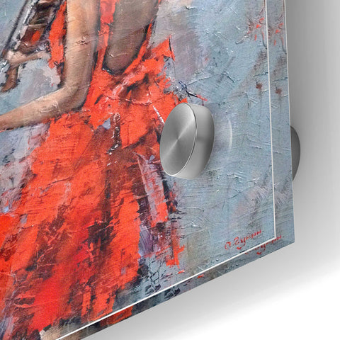 Epic Art 'Violinist in Red' by Alexander Gunin, Acrylic Glass Wall Art,24x36