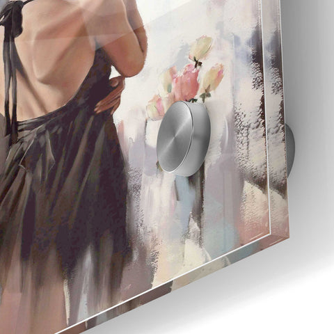 Image of Epic Art 'Girl With Roses' by Alexander Gunin, Acrylic Glass Wall Art,24x36