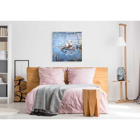 Image of Epic Art 'Fishermen' by Alexander Gunin, Acrylic Glass Wall Art,36x36