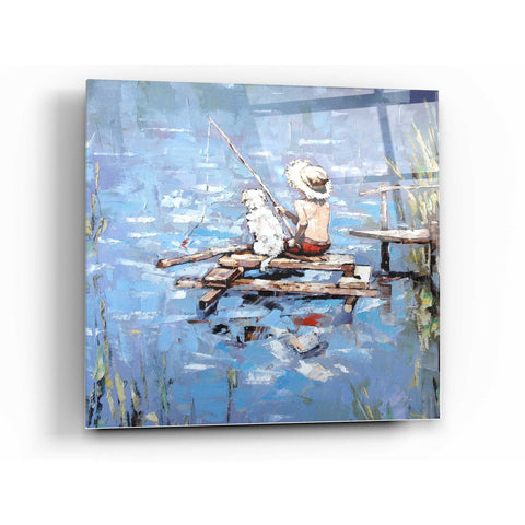 Image of Epic Art 'Fishermen' by Alexander Gunin, Acrylic Glass Wall Art