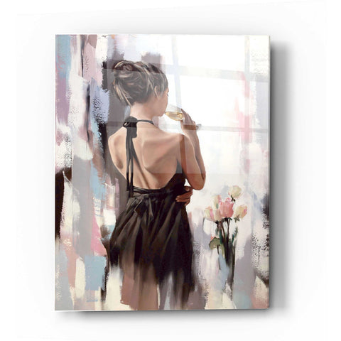 Image of Epic Art 'Girl With Roses' by Alexander Gunin, Acrylic Glass Wall Art