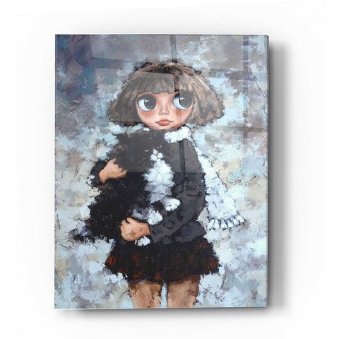 Epic Art 'Girl With Cat' by Alexander Gunin, Acrylic Glass Wall Art
