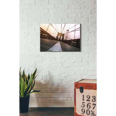 Image of 'Brooklyn Bridge, New York City' by Nicklas Gustafsson, Canvas Wall,18 x 26