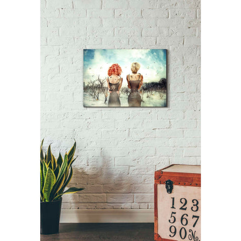 """Conversation"" by Mario Sanchez Nevado, Giclee Canvas Wall Art"