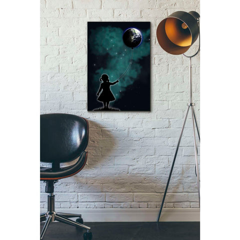 """The Girl that Holds the World"" by Nicklas Gustafsson, Giclee Canvas Wall Art"
