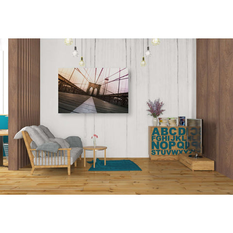 Image of 'Brooklyn Bridge, New York City' by Nicklas Gustafsson, Canvas Wall,26 x 40
