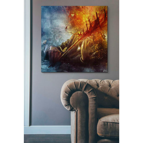 'A Look Into The Abyss' by Mario Sanchez Nevado, Canvas Wall Art,37 x 37
