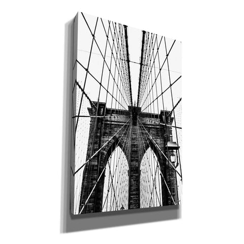 'Brooklyn Bridge Web Vertical' by Nicklas Gustafsson Canvas Wall Art