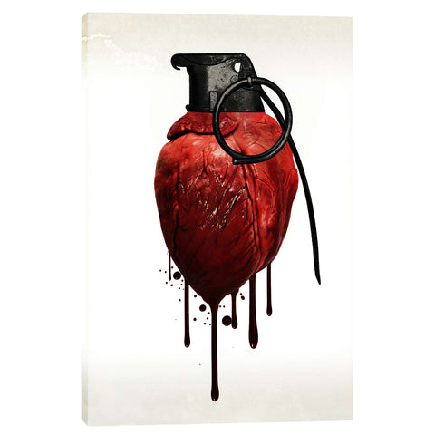 """Heart Grenade"" by Nicklas Gustafsson, Giclee Canvas Wall Art"