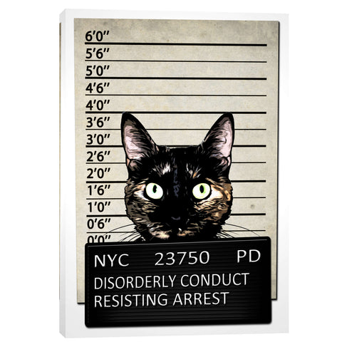 """Kitty Mugshot"" by Nicklas Gustafsson, Giclee Canvas Wall Art"