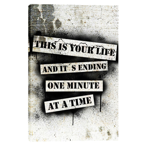 """This Is Your Life - Fight Club"" by Nicklas Gustafsson, Giclee Canvas Wall Art"