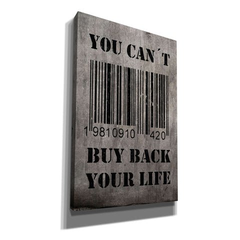 """You Can't Buy Back Your Life"" by Nicklas Gustafsson, Giclee Canvas Wall Art"