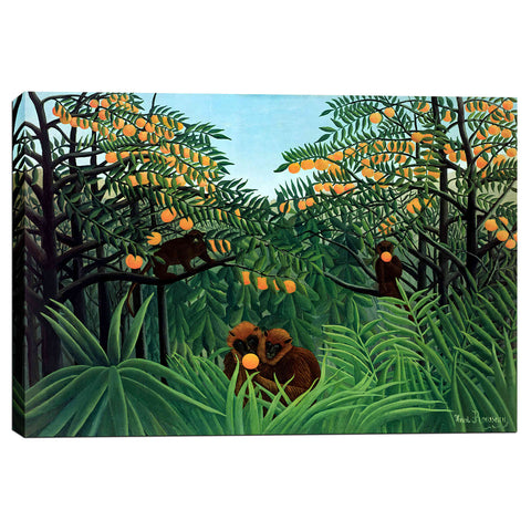 'The Tropics' by Henri Rousseau Canvas Wall Art,12 x 18