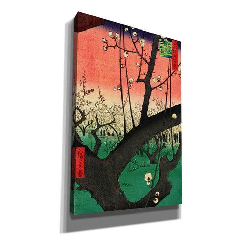 'Plum Park in Kameido' by Ando Hiroshige Canvas Wall Art