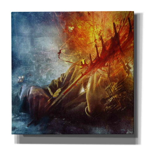 'A Look Into The Abyss' by Mario Sanchez Nevado, Canvas Wall Art,Size 1 Square
