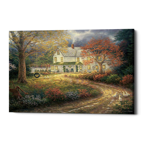 "Image of ""Mid Country Farmhouse"" by Chuck Pinson, Giclee Canvas Wall Art"