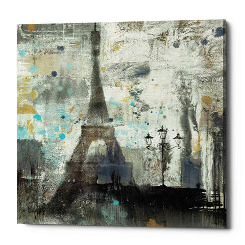 'Eiffel Tower Neutral' by Albena Hristova, Giclee Canvas Wall Art