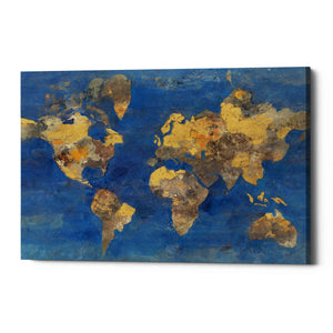 'Golden World Neutral' by Albena Hristova, Canvas Wall Art