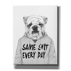'Same Shit Everyday' by Balazs Solti, Giclee Canvas Wall Art