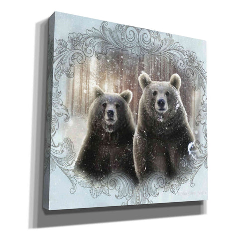 Image of 'Enchanted Winter Bears' by Bluebird Barn, Canvas Wall Art,Size 1 Sqaure