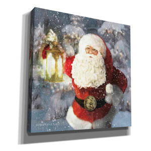'Light the Way Santa' by Bluebird Barn, Canvas Wall Art,Size 1 Sqaure