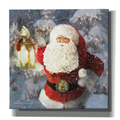 Image of 'Light the Way Santa' by Bluebird Barn, Canvas Wall Art,Size 1 Sqaure