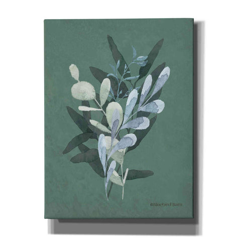 Image of 'Watercolor Greenery Series Dark II' by Bluebird Barn, Canvas Wall Art,Size B Portrait
